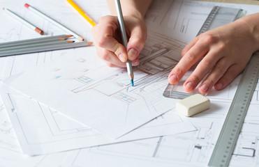 Interior design drawing details