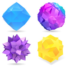 Collection of glossy 3d icons for your business artwork.
