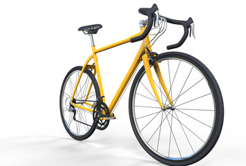Yellow Sport Bike