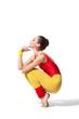 thinking fitness woman