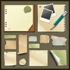 Vintage paper collections design background
