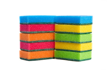 Two rows of sponges
