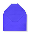 Close-up of blue envelopes.