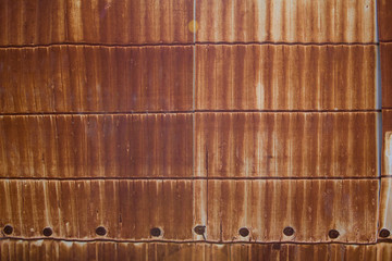 Texture of rusty metal sheets