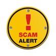 scam alert circle sign