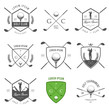 Set of golf club labels and emblems - 50480338