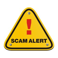 scam alert triangle sign