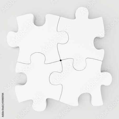 blank white collected puzzles
