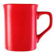 Red mug isolated on white background