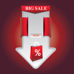 Big Sale Arrow Template Red