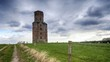 Timelapse of clouds rushing over Horton Tower a folly in Dorset