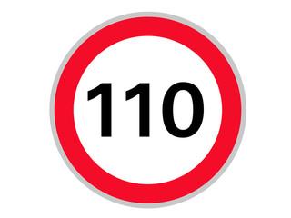 Verkehrszeichen 110 km/h