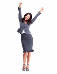 Happy Business woman. Success.