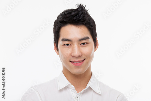 Young Asian man close up shot.