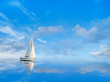 Yacht on blue sky