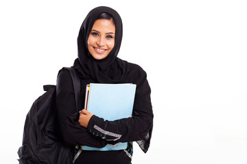 female middle eastern college student