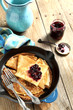 Crepes with black currant