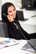 Arabian businesswoman talking on office phone