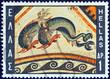 Dolphin Mosaic, Delos island (110 B.C.) (Greece 1970)