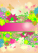 Vertical banner with summery flowers