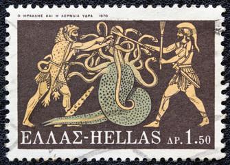 Hercules killing Lernaean Hydra (Greece 1970)