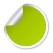 Vector round sticker