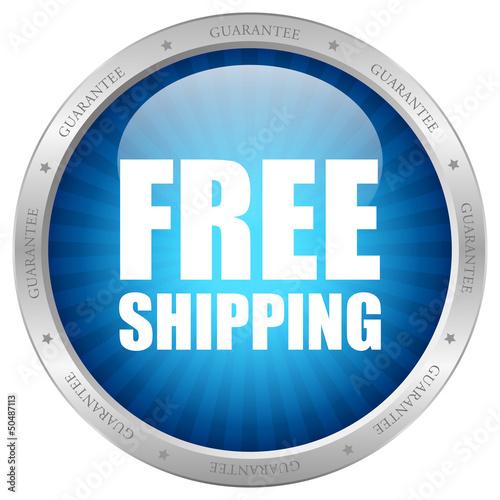 Vector free shipping guarantee icon