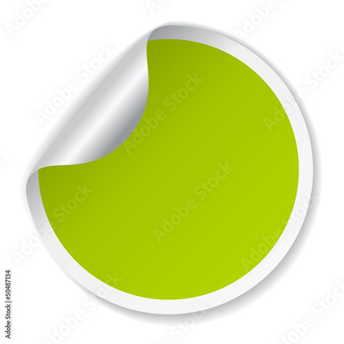 Vector round sticker