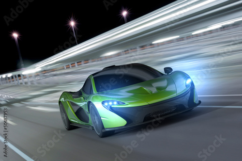 racing car at night