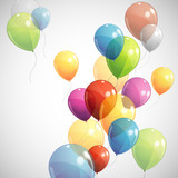 background with multicolored balloons