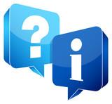 Speech Bubbles Question Information Light Blue/Blue