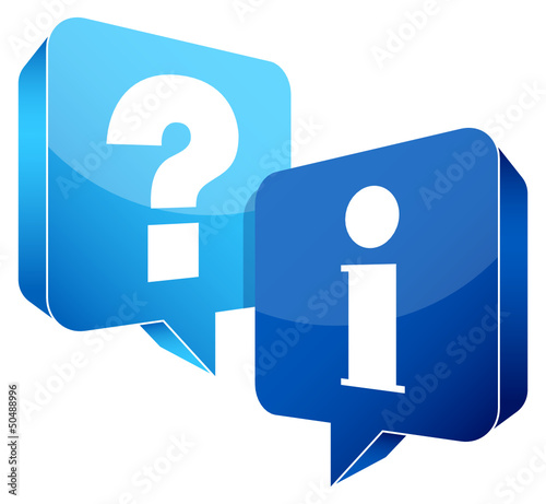 Speech Bubbles Question Information Light Blue/Blue