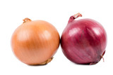Brown and red onions