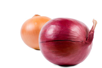 Detail of a fresh red onion