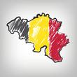 Belgien Karte Zeichnung