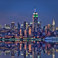 New York, Empire State Building de nuit