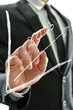 Businessman pointing at graph 2013