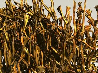 Estalactitas estalagmitas doradas