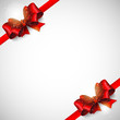 vector background with red bows and ribbons