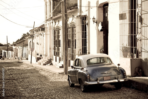 Antique car, Trinidad