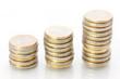 Steigerung Gewinn - Konzept mit Münzstapeln