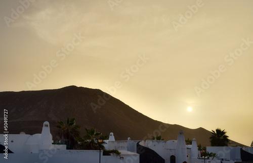 Lanzarote at dusk or dawn