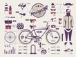 hipster vs bike info graphic elements