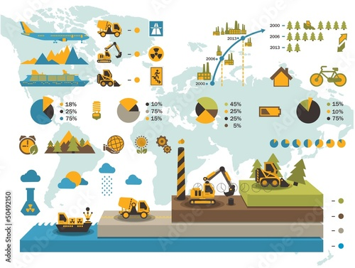 colorful ecology elements,vector info graphics