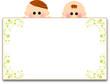 子供とホワイトボード