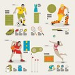 sports and recreation info graphic elements
