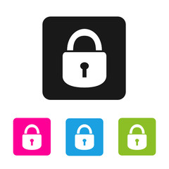 Set of vector color lock icons
