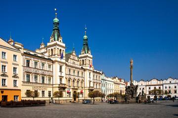 Czech Republic, Pardubice, guildhall on Pernstynske square