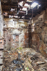 Interior of old abandon paper mill in Kalety - Poland, Silesia p
