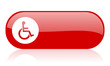 accessibility red web glossy icon